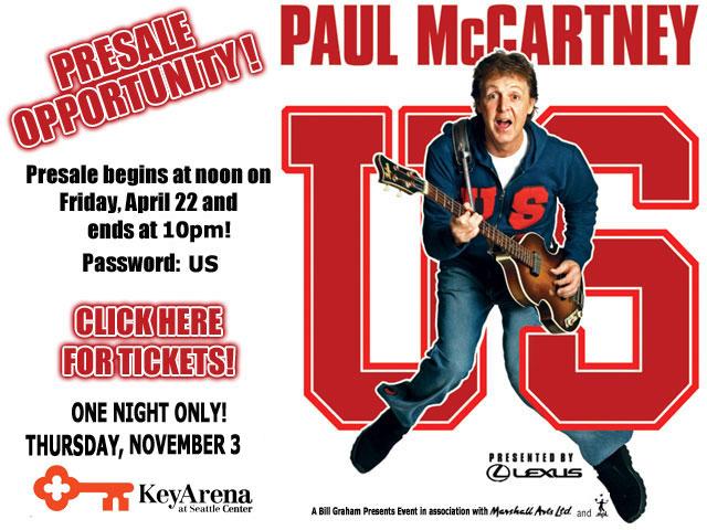 Concert Event Paul McCartney World Tour NOVEMBER 03 2005 Thursday In Seattle At The KeyArena